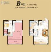 红星国际广场1室2厅2卫100平方米户型图