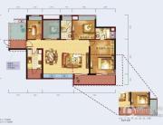 泰然南湖玫瑰湾3室2厅1卫130平方米户型图