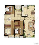 中海国际社区3室2厅2卫143平方米户型图