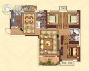 亚坤・帝景豪庭3室2厅2卫107平方米户型图