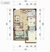 天籁谷1室1厅1卫33平方米户型图
