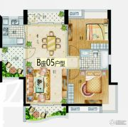 益华・山海郡2室2厅2卫85--95平方米户型图