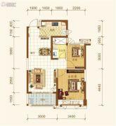 恒大海上帝景2室2厅1卫78平方米户型图
