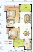 春风紫金港2室2厅1卫83平方米户型图