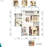 东岸阳光2室0厅0卫98平方米户型图