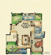 紫园1室2厅2卫0平方米户型图