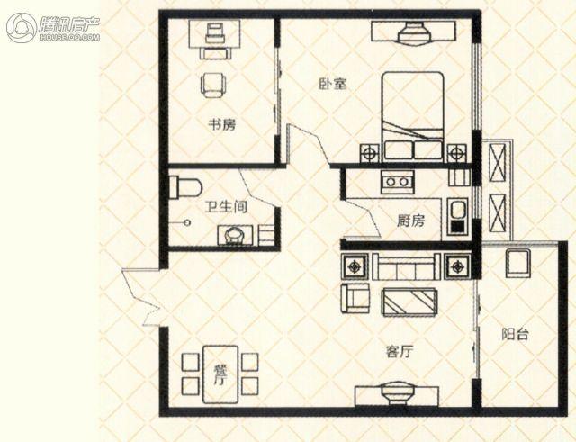 砥柱大厦C-3 2室2厅1卫1厨80㎡