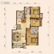 保利海上五月花3室2厅2卫110平方米户型图