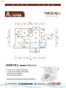 幸福家园・�h珑湖4室2厅2卫138平方米户型图