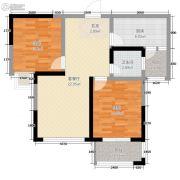 米兰广场2室2厅1卫58平方米户型图