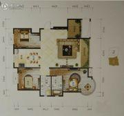 金洋石河湾3室2厅2卫123平方米户型图