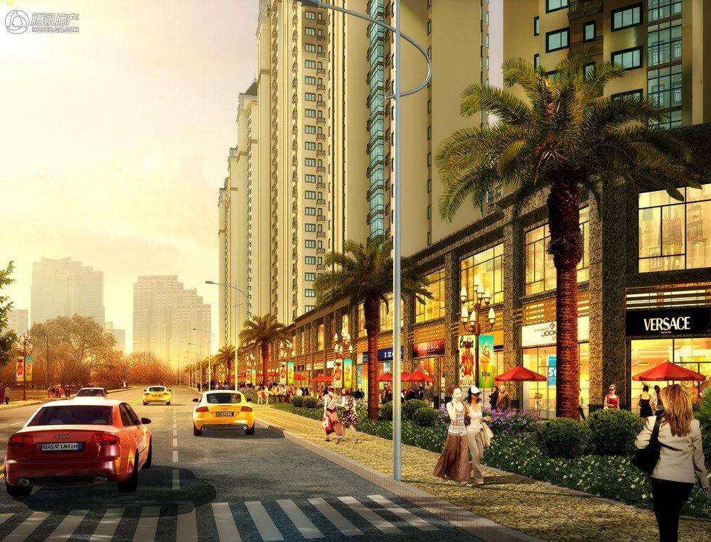 成都恒大新城商业街白天效果图