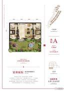 龙湖长城源著2室2厅2卫108平方米户型图