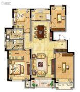 融创中央学府4室2厅2卫147平方米户型图