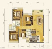 恒大金阳新世界4室2厅3卫0平方米户型图