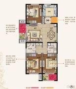 东方现代城3室2厅1卫0平方米户型图