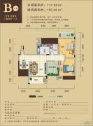 天柏丽都3室2厅1卫100--114平方米户型图