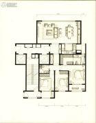万科时代中心3室2厅2卫155平方米户型图