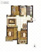 大成门3室2厅1卫120平方米户型图