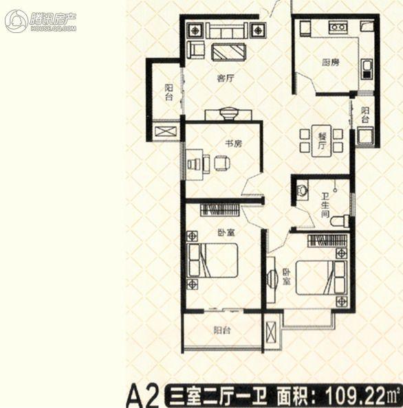 砥柱大厦A-13室2厅1卫1厨109㎡