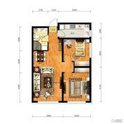 华润幸福里2室2厅1卫84平方米户型图