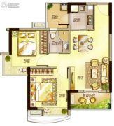 万科里享水韵2室2厅1卫76平方米户型图