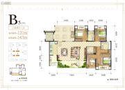 金辉中央�著3室2厅3卫0平方米户型图