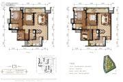 东原・观天下3室2厅2卫100平方米户型图