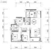 远洋天骄广场3室2厅2卫109平方米户型图