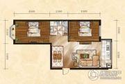 金山翰林苑2室1厅1卫75平方米户型图