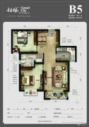 首尔・甜城2室2厅1卫86平方米户型图