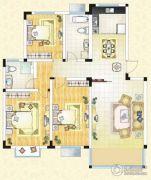 祥育苑3室2厅2卫117平方米户型图