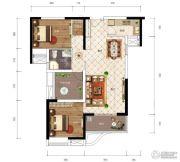 江南URD2室2厅1卫95平方米户型图