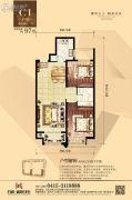 丹东万达广场2室2厅1卫97平方米户型图