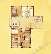 许继天宝盛世花园3室2厅2卫137平方米户型图