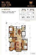 御岛财富公馆4室2厅3卫0平方米户型图