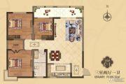 美伦・香颂3室2厅1卫109平方米户型图