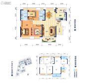 鸿潮宝来华府3室2厅2卫117平方米户型图