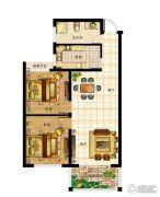 一品星泽湾2室2厅1卫84平方米户型图