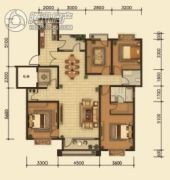 中鸿基名都3室2厅2卫145平方米户型图