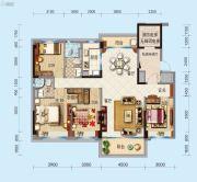 合浦碧桂园玖珑湾4室2厅2卫147平方米户型图
