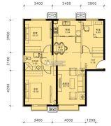 蓝泽・大金城3室2厅1卫0平方米户型图