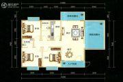 九悦廷3室2厅1卫124平方米户型图