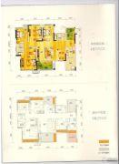 绿地城4室2厅2卫125平方米户型图
