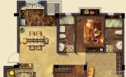 美岸栖庭 多层3室2厅2卫119平方米户型图