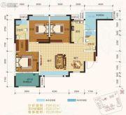 卓信金楠天街3室2厅2卫99平方米户型图