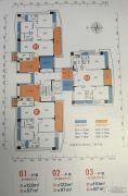 畔山四季公馆3室2厅2卫122平方米户型图
