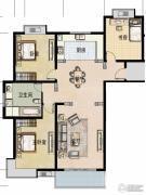 福宇凤凰华庭3室2厅1卫125平方米户型图