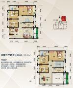 泛宇惠港新城6室4厅3卫191平方米户型图