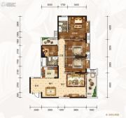 龙湾公馆4室2厅2卫138平方米户型图